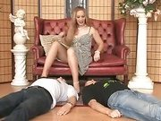 Lady Joanne with 2 slaves