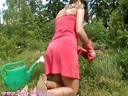 Russian goddess Irina - dirty feet outdoor