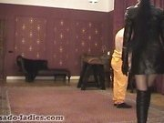 Corporal Caning - Whipping femdom jail bird ser...